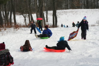 2014  Pithole  Sledding  Party